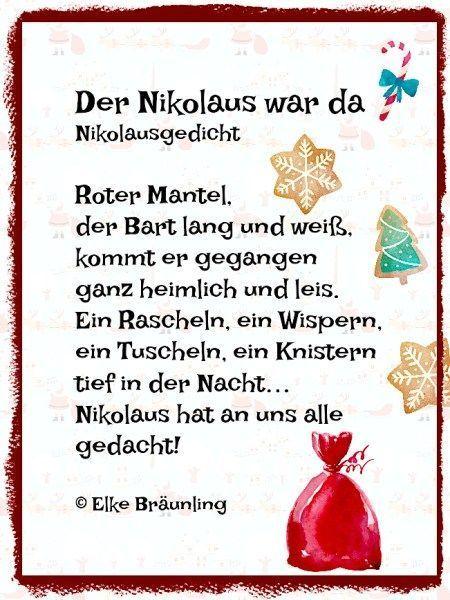 Ja Der Nikolaus Nikolausgedichte Gedicht Weihnachten