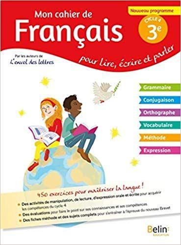 Mon Cahier De Francais 3eme Pdf Gratuit Telecharger Livre