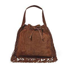 9546499f0a Fringed Suede Sling Bag - Polo Ralph Lauren Hobos   Shoulder Bags -  RalphLauren.com