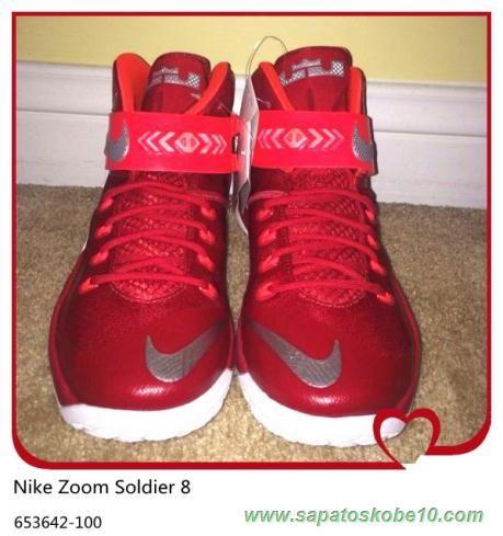 4c09ed03ef5 sites de lojas de tenis Nike Zoom Soldier 8 653642-100 Vermelho Branco  Masculino