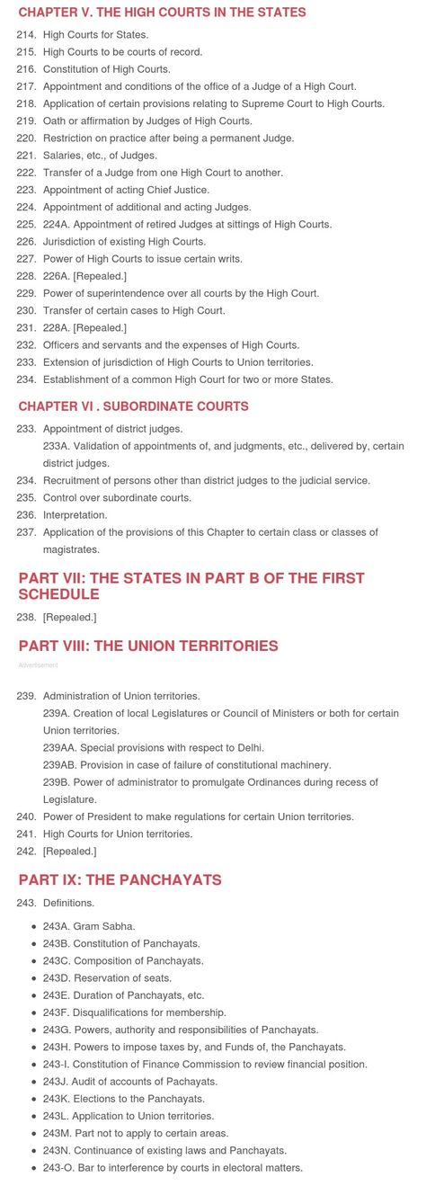All (448) Articles of the Indian Constitution (465) English [PDF]