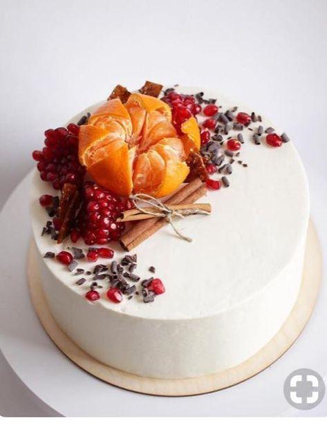 zimná ovocná torta