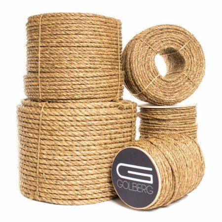 Golberg Manila Rope Heavy Duty 3 Strand Natural Fiber 1 4 Inch 5 16 Inch 3 8 Inch 1 2 Inch 5 8 Inch 3 4 Inch 1 Inch 2 Inch Available In Different L Manila Rope Hemp Rope How To Make Rope