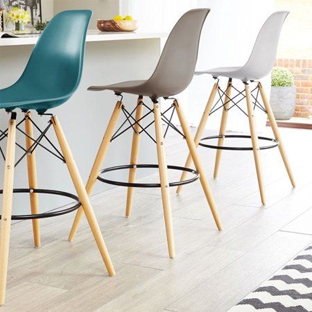 2xhome Set Of 2 25 Seat Height Modern Chair Plastic Bar Stool