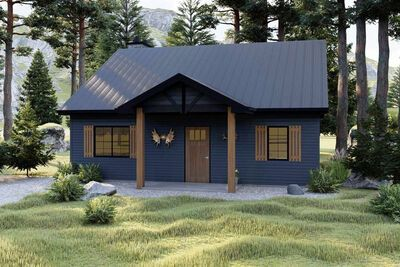 Plan 62700dj Cozy Cottage Or Hunting Cabin In 2020 Hunting Cabin Cabin Plans Cozy Cottage
