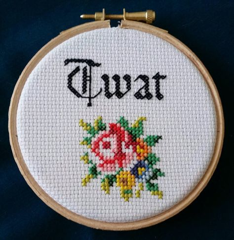 Discover recipes, home ideas, style inspiration and other ideas to try. Cross Stitch Quotes, Cross Stitch Letters, Cross Stitch Art, Modern Cross Stitch, Cross Stitching, Cross Stitch Embroidery, Funny Cross Stitch Patterns, Cross Stitch Freebies, Cross Stitch Designs