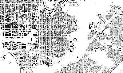 Nolli Map of Washington D C FIGUREGROUND SOLIDVOID