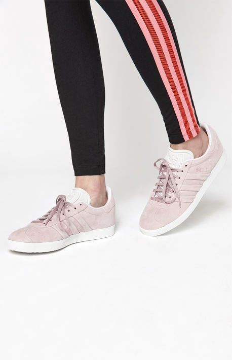 Women's Pink Gazelle Stitch And Turn Sneakers   Sneakers