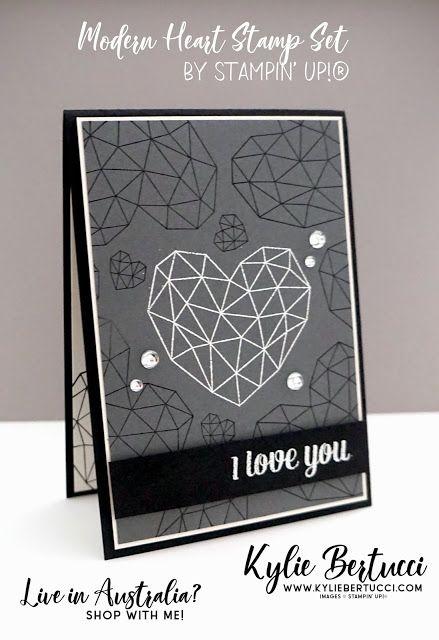 Bruno S Anniversary Card Kylie Bertucci Stampin Up Australia Stampinup Cardmaki Valentine Love Cards 16th Wedding Anniversary Wedding Anniversary Cards