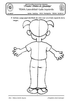 Tema Lateralidad Lado Izquierdo Ejercicios De Lateralidad Actividades De Arte Para Preescolares Actividades De Educacion Musical