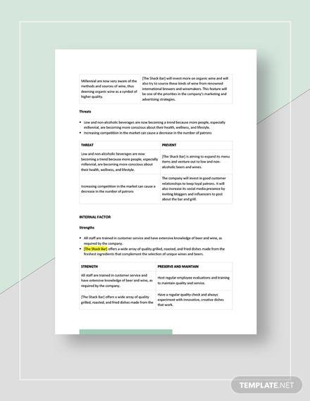 Bar Swot Analysis Template Free Pdf Google Docs Word Apple Pages Template Net Swot Analysis Template Swot Analysis Analysis
