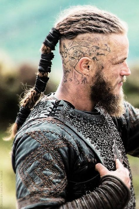Ragnar Vikings Head Custom Temporary tattoo for Cosplay