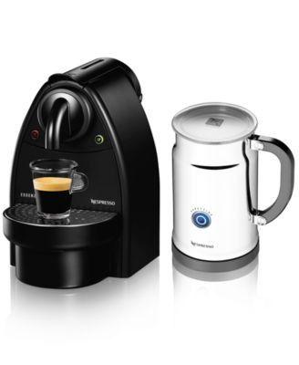 Nespresso Essenza Manual Espresso Machine With Aeroccino Plus Milk Frother Bundle Nespresso Best Espresso Machine Coffee
