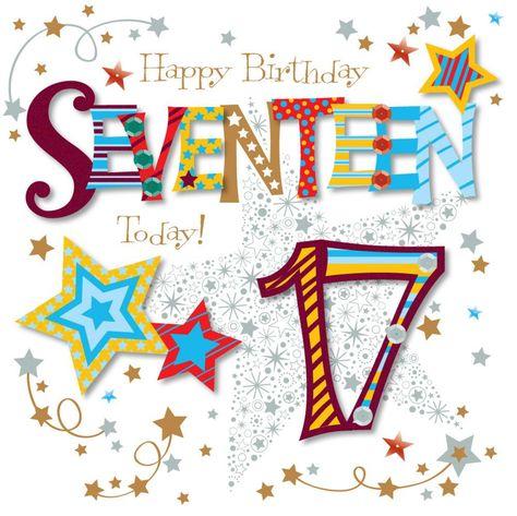 Happy Birthday 17 Year Old Alles Gute Zum Geburtstag Karten
