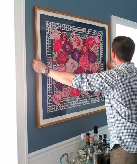 At Home With ABD: Framed Hermès Scarf - Ashley Brooke DesignsAshley Brooke Designs
