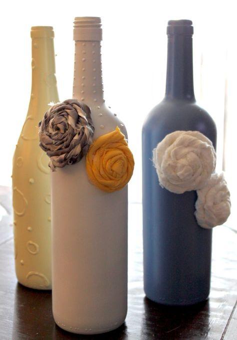 Decorative Upcycled Wine Bottle Vase