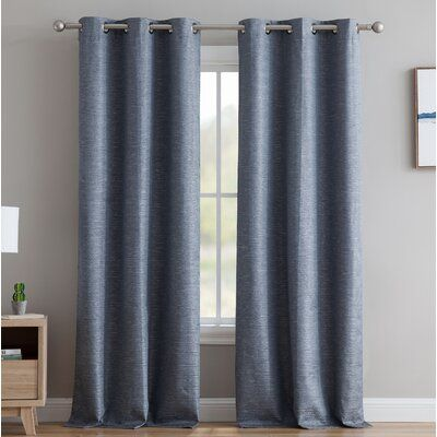 Gracie Oaks Middlewich Textured Solid Max Blackout Thermal Grommet