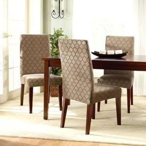 Brown Suede Dining Room Chairs