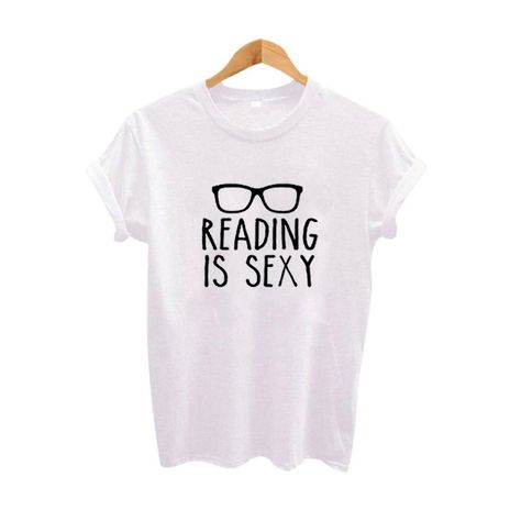 Reading Is Sexy Slogan Shirt Hipster Women Clothing 2017 Summer Funny T Shirts Black White Cotton Tee Shirt Femme Women Tops – Dahlias in Bloom
