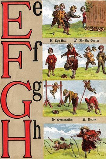 E F G H Illustrated Letters By Edmund Evans 3 Art Print Art Prints Illustration 3 Arts