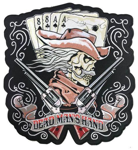 ACES /& EIGHTS DEADMAN/'S HAND BIKER WESTERN HAT RIDER GUNS SWEATSHIRT  544