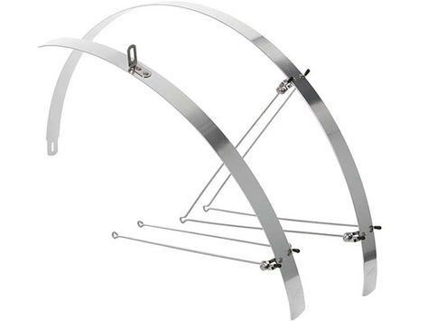 Contec Flat Fender Alu Schutzblechset Silber 28 Zoll 32mm Breit