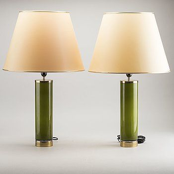 A Pair Of Bergboms 1970 S Table Lamps Bukowskis Table Lamp Lamp Modern