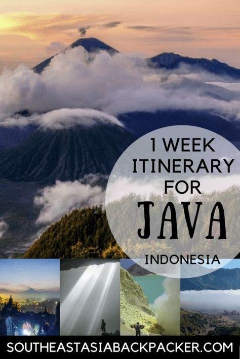 Only One-Week to Backpack Java, Indonesia? The Perfect One-Week Itinerary! #Java #Indonesia #IndonesiaItinerary #JavaItinerary #ThingstodoinJava #BackpackJava #BackpackIndonesia #JavaTravel #Volcanoes #MountBromo #Yogyakarta #TrekkingIndonesia #Borobodur