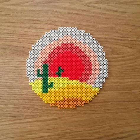 Melty fuse bead art I take requests by MyPixelEmporium on Etsy Easy Perler Bead Patterns, Melty Bead Patterns, Perler Bead Templates, Diy Perler Beads, Perler Bead Art, Beading Patterns, Easy Perler Beads Ideas, Melty Beads Ideas, Hama Beads Coasters