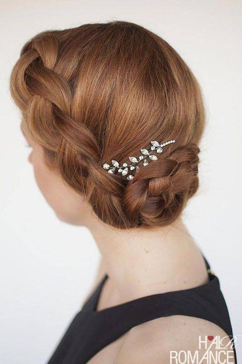 Hair Romance - how to wear your hair to a wedding - formal braid updo hairstyle tutorial #weddingbraids #EasyPonytailIdeas