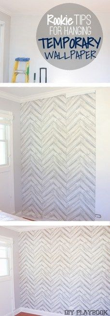 How to Hang Temporary Wallpaper | Temporary wallpaper, Wallpaper ...