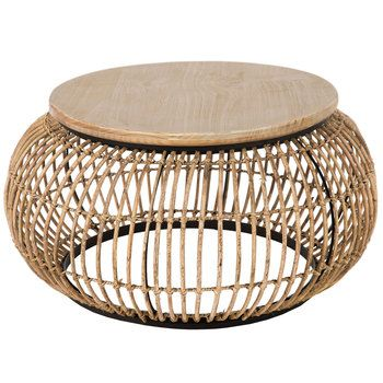 Rattan Round Coffee Table Large In 2019