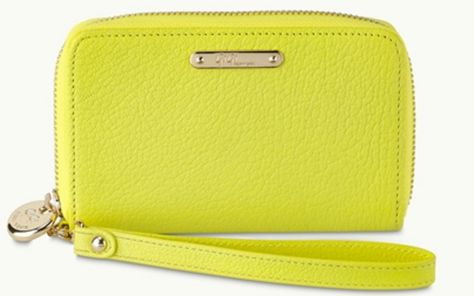 Wristlet Phone Wallet in Neon Goatskin
