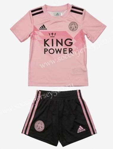 2019 2020 Leicester City Away Pink Kids Youth Soccer Uniform In 2020 Soccer Uniforms Youth Soccer Soccer Uniforms Design