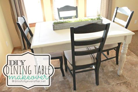 Blissfully Ever After  Diy Farmhouse Dining Table Makeover Amusing Diy Dining Room Table Makeover Decorating Design