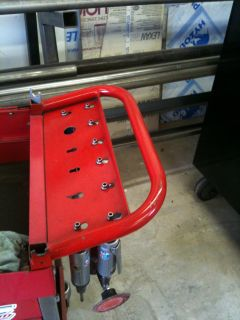 Air tool holder for your tool cart. All I need now is some air tools so I can do this too.