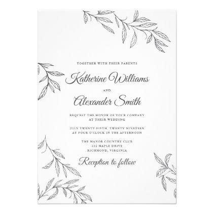 Botanical Wedding Invitation Zazzle Com In 2021 Botanical Wedding Invitations Wedding Cards Botanical Wedding