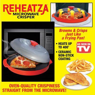 Reheatza Microwave Crisper Pan Microwave Crisper Pan Cooking Gadgets Microwave Cooking