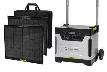 Goal Zero Yeti 1250 Solar Generator Kit Gdh The Decorators Department Store Energia Solar Por Do Sol Sistema De Iluminacao