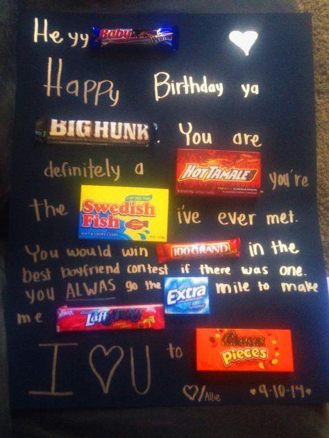 22 Ideas For Birthday Poster Boyfriend Candy Bars