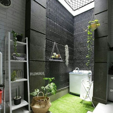 "dekorasi rumah idaman di instagram ""ruang laundry di sudut"