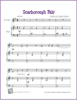 Scarborough Fair | Trumpet Sheet Music (Free) | Cello sheet music