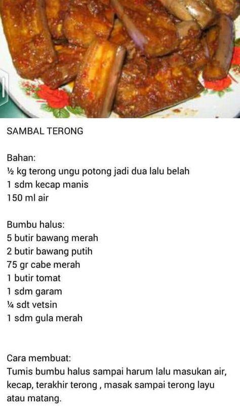 Terong D Cabein Resep Makanan Sehat Resep Masakan Masakan Indonesia