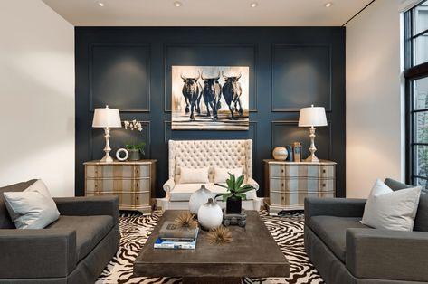 Blaues Akzent Wand Wohnzimmer Technologie 2018 Pinterest