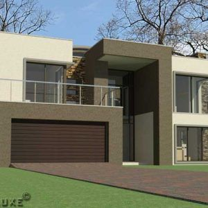 4 Bedroom Modern House Plan For Sale Home Designs Plandeluxe Double Storey House Double Storey House Plans House Plan Gallery