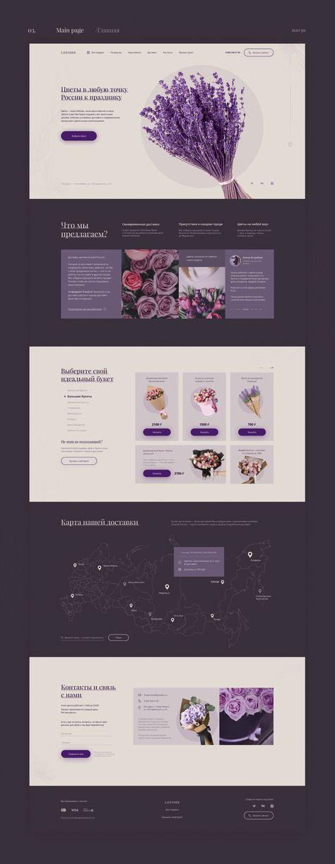 Landing page for Online Flower Shop