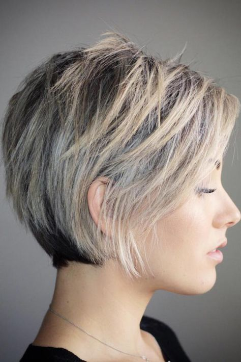 Layered Pixie Bob For Fine Hai Short Hair With Layers Thick Hair Styles Short Bob Hairstyles