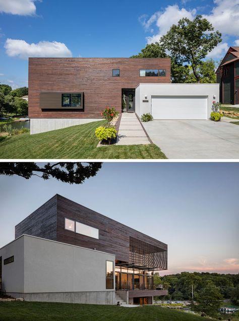 Parfait This Modern Lodge Sits Lakeside In Missouri   + Houses   Pinterest   Villa  Contemporaine, Contemporain And Chalet