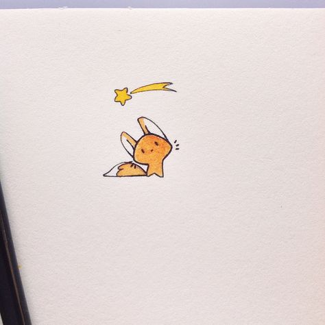 Make a wish ! 😊 little and simple drawings with black ink and watercolor, on Fontaine paper.  I played a little with the ears to give some…
