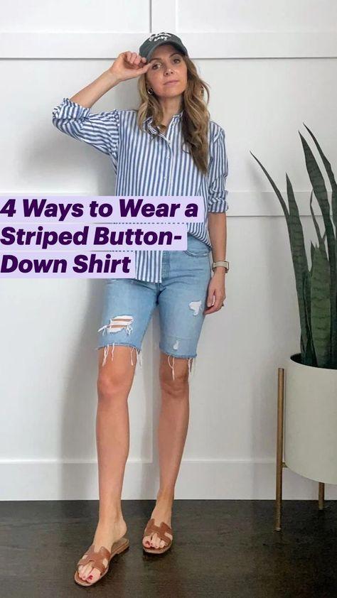 4 Ways to Wear a Striped Button-Down Shirt